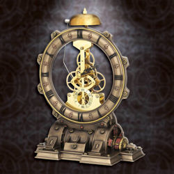 Picture of Steampunk Generator Striking Clock