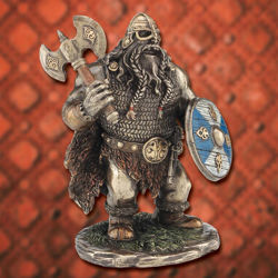 Picture of Shorty Viking with Axe Statue