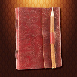 Picture of Pencil Lock Leather Journal