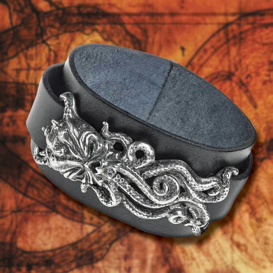 Picture of Cthulhu Leather Band Cuff Bracelet