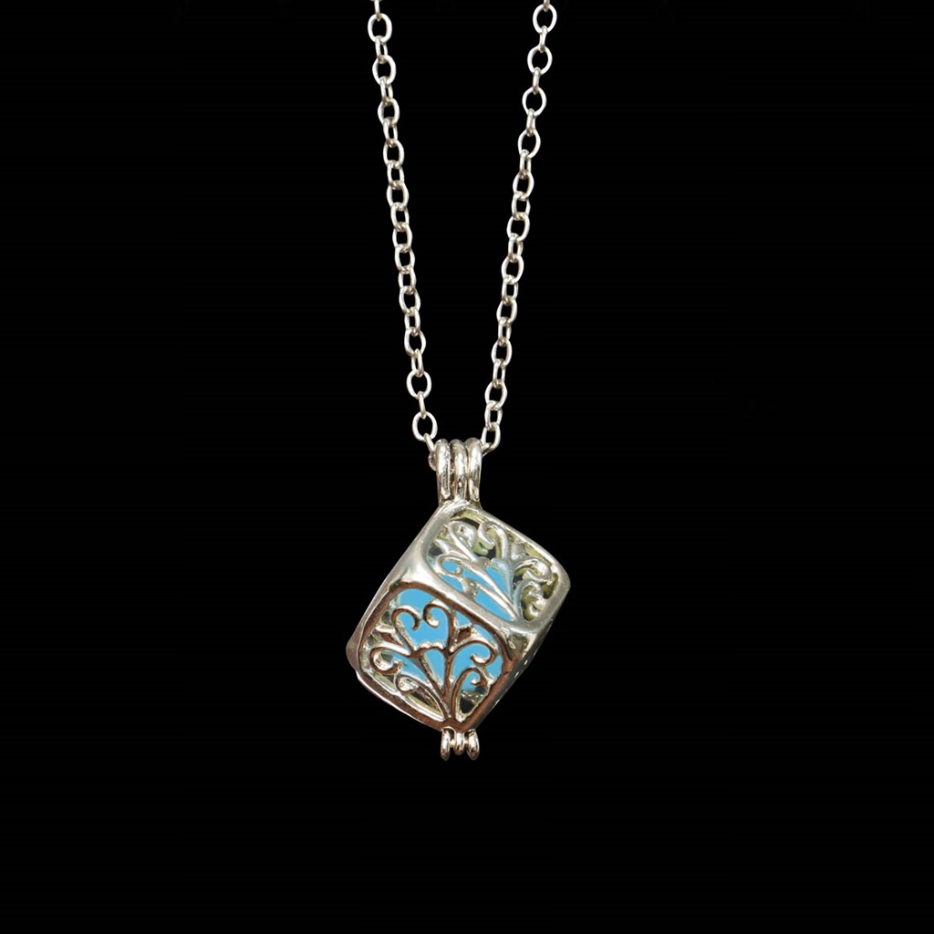 Picture of Glow in the Dark Square Locket