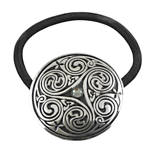 Picture of Pewter Triple Swirl Jeweled Celtic Hair Band