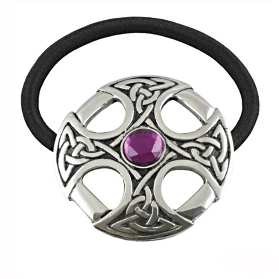 Picture of Pewter Celtic Cross Amethyst Jewel Hair Band