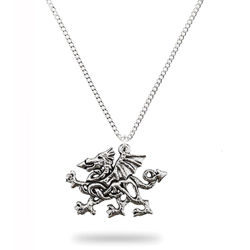 Picture of Pewter Celtic Welsh Dragon Necklace