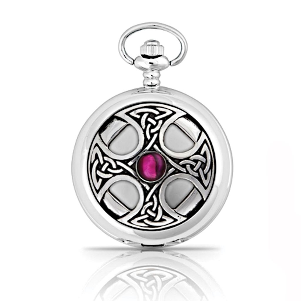 Picture of Pewter Celtic Cross Pocket Watch