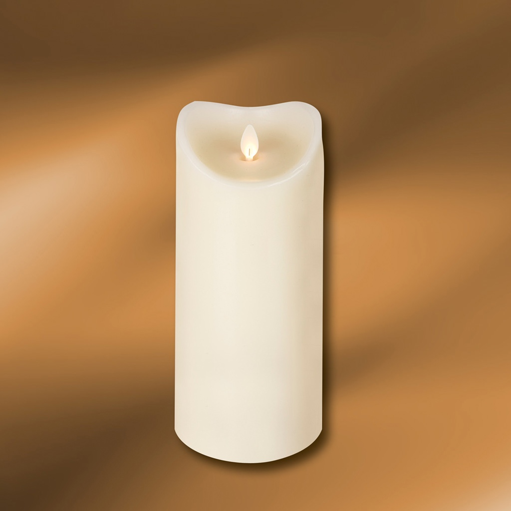 "Picture of LED Wax Pillar Candle 3-1/2"" x 9"""