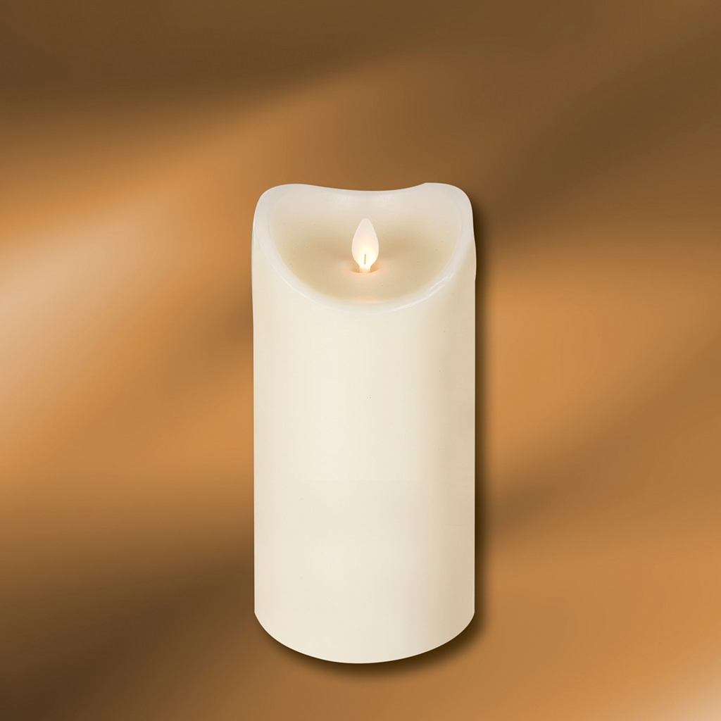 "Picture of LED Wax Pillar Candle 3-1/2"" x 7"""