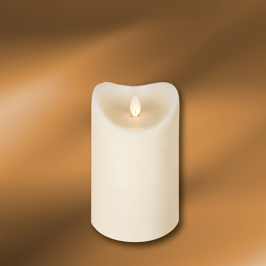 """Picture of LED Wax Pillar Candle 3-1/2"""" x 5"""""""