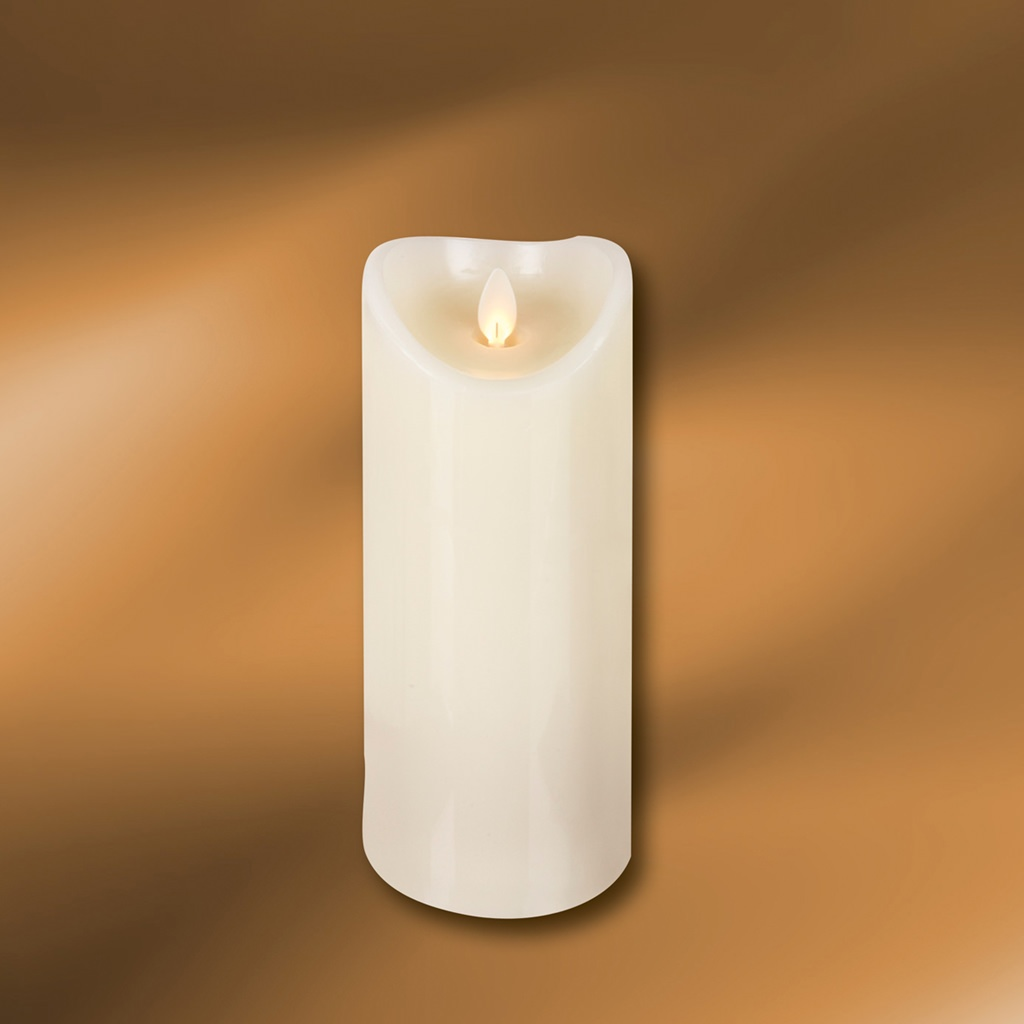 "Picture of LED Wax Pillar Candle 3"" x 8"""