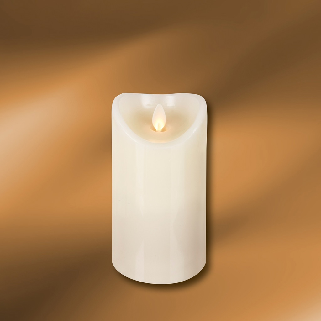 "Picture of LED Wax Pillar Candle 3"" x 5"""