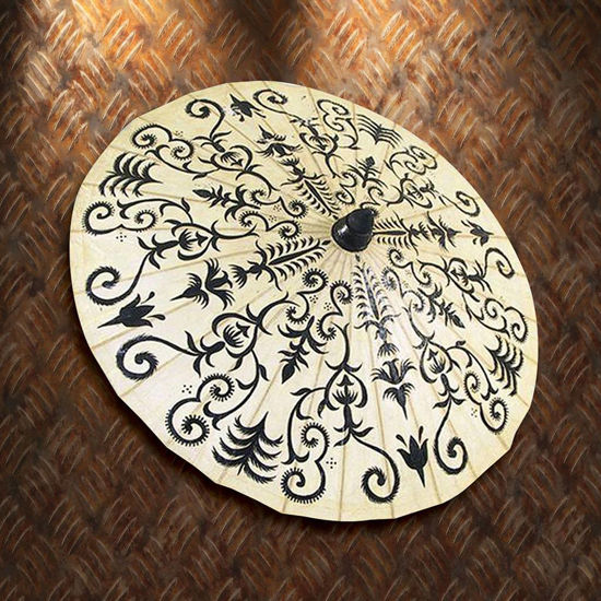 Picture of Hand Painted Henna Paper Parasol