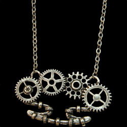 Clockwork Brass Knuckle Necklace