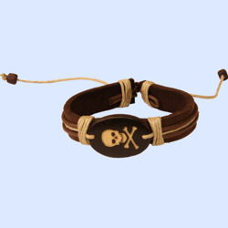 Picture of Leather Pirate Corded Bracelet