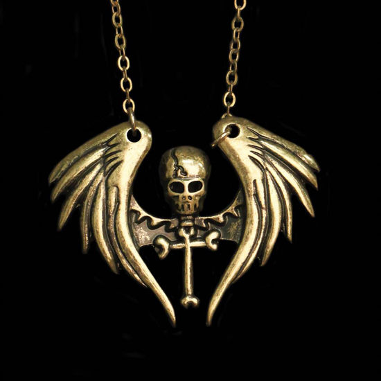 Picture of Winged Pirate Cross Necklace