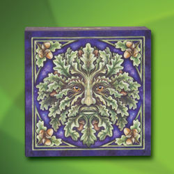 Picture of Green Man Mirror Box