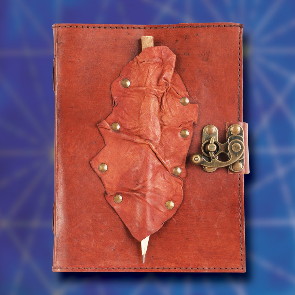Picture of Riveted Leather Journal with Pencil