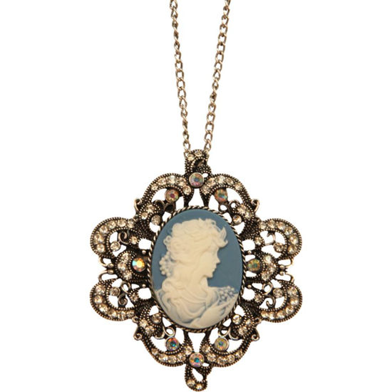 Picture of Victorian Turquoise Cameo Necklace