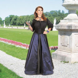 Pinwheel Panel Skirt - Midnight Blue