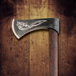 Viking Throwing Axe with Dragon
