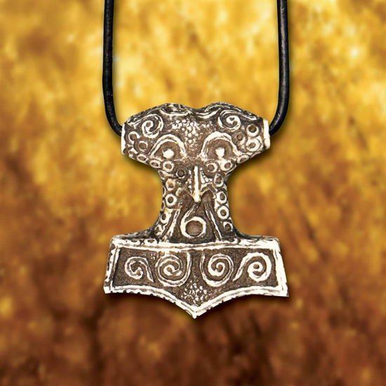 Picture of Thor's Hammer Carved Bone Pendant