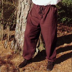 Medieval Cotton Drawstring Pants