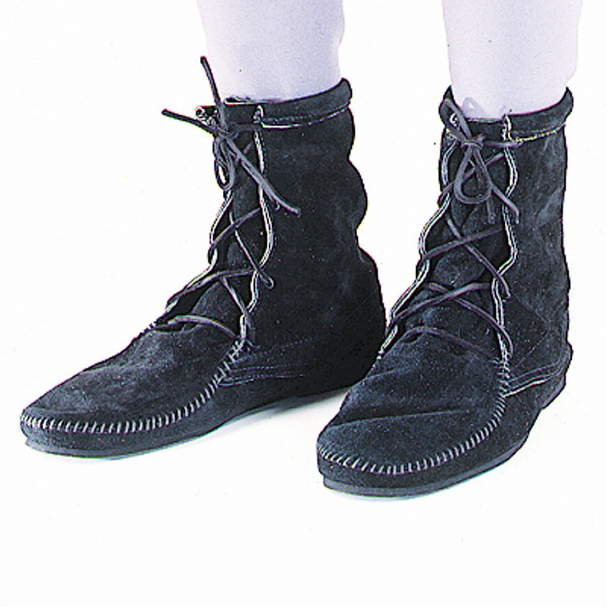 Low Boots without Fringe - Black