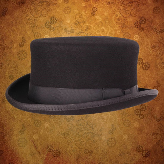 The Gent Half Top Hat Black