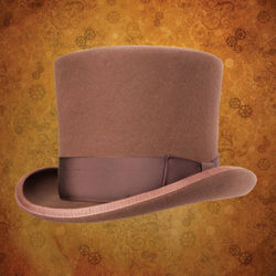 Victorian Top Hat - Pecan Brown