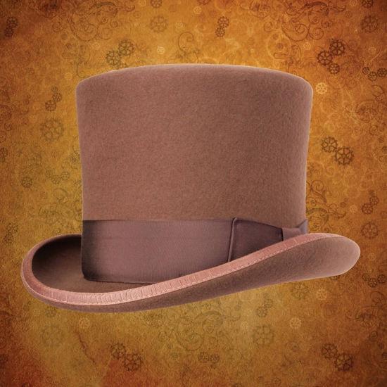 Victorian Top Hat - Pecan Brown