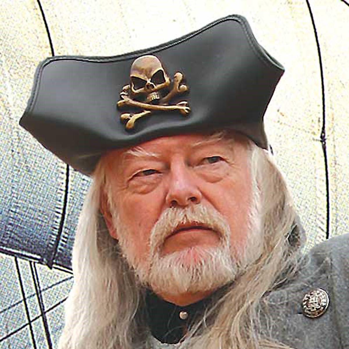 Skull & Crossbones Tricorn Leather Hat