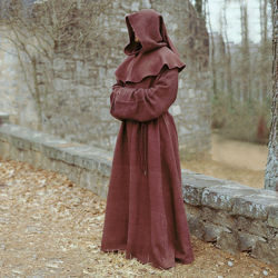 Medieval Monk's Robe and Hood - Brown