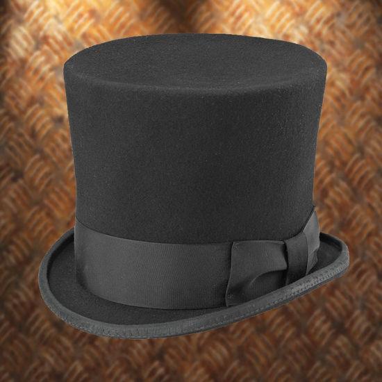 Black Wool Gotham Top Hat