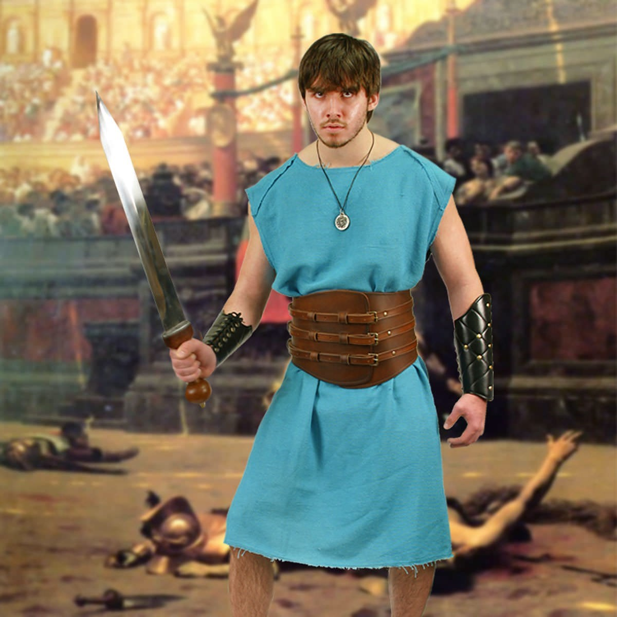 Gladiator Blue Cotton Tunic