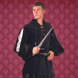 Renaissance Cavalier Shirt - Silver & Black