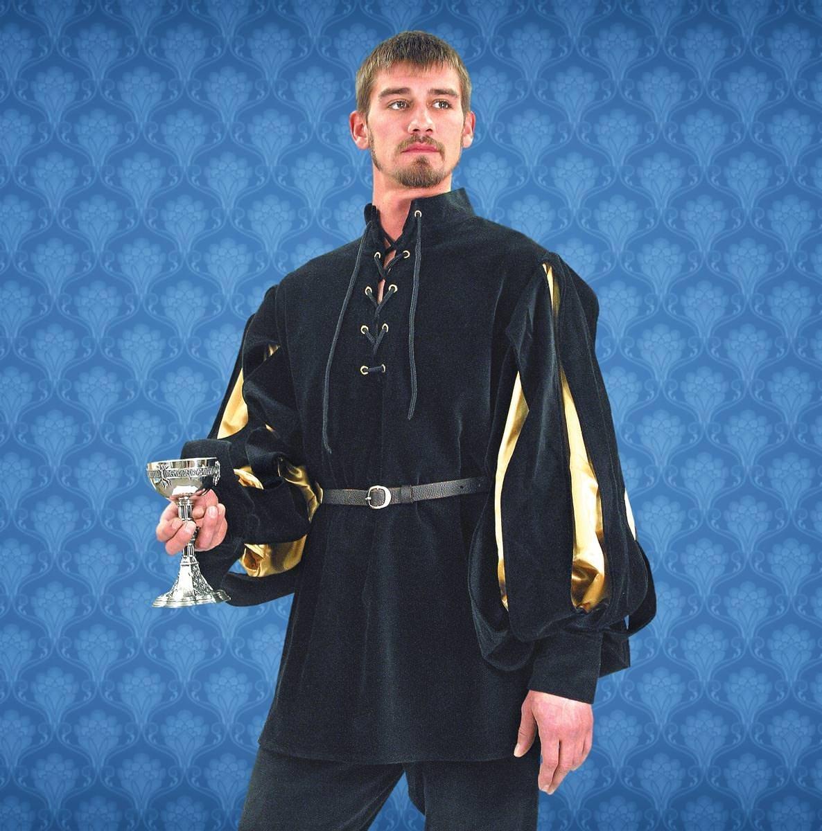 Renaissance Cavalier Shirt - Gold & Black