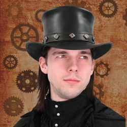 Picture of Leather Top Hat
