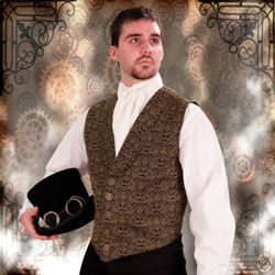 Steampunk Empire Brocade Vest