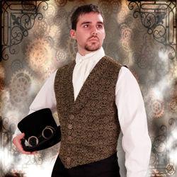 Steampunk Empire Brocade Vest