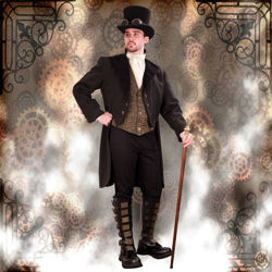Empire Gentleman's Steampunk Opera Coat