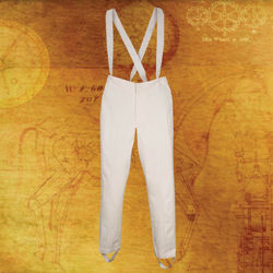 Steampunk Britannia White Military Pants