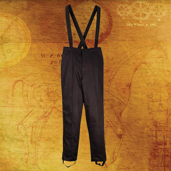 Steampunk Britannia Black Military Pants