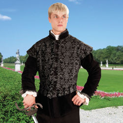 Aramis Doublet shown worn with removable sleeves