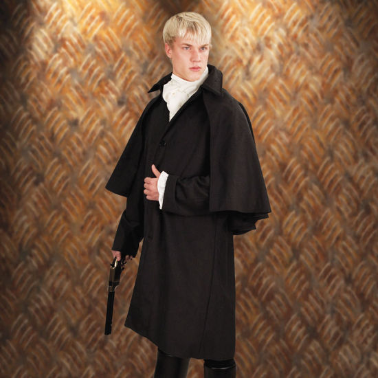 Baker Street Coat Charcoal Grey
