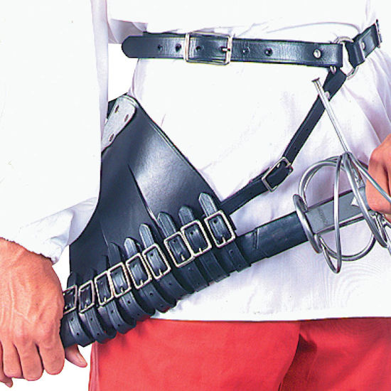 Left Handed Leather Rapier Carrier