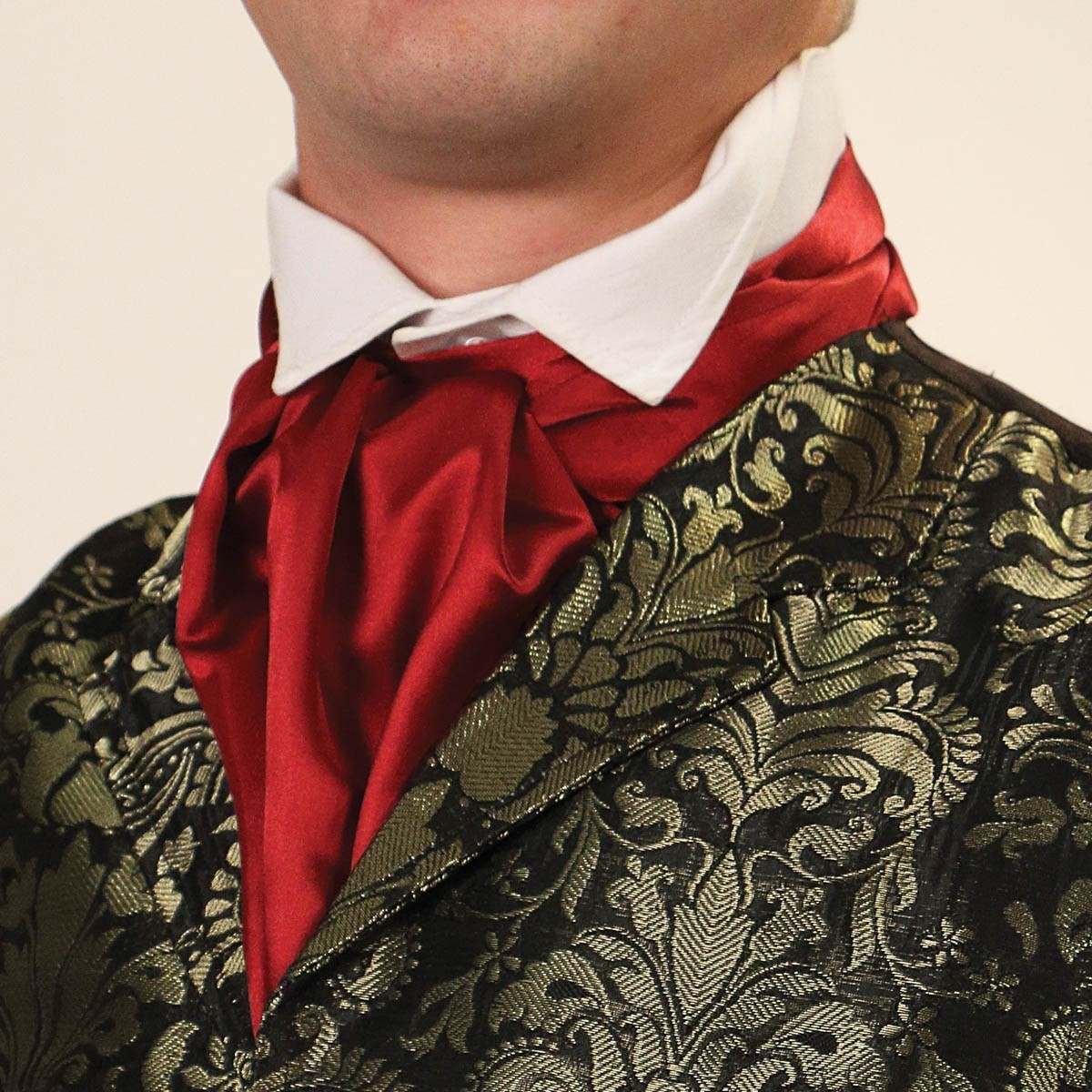 Empire Cravat in Burgundy