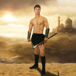 Suede Loincloth Men's Fantasy Warrior Costume