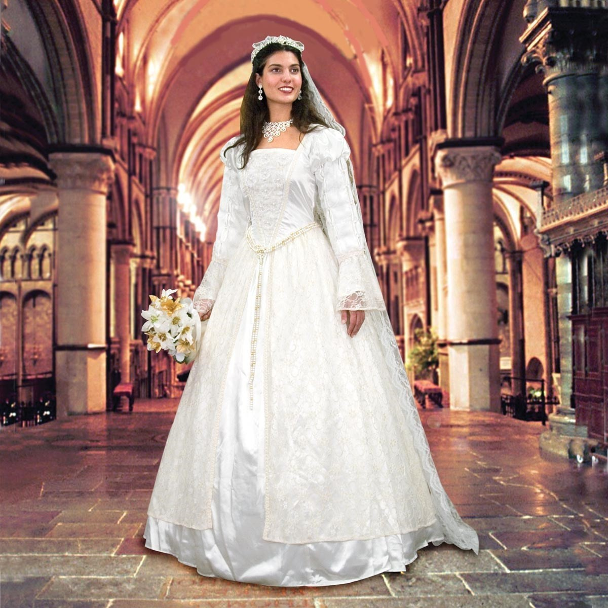 Renaissance Wedding Gown & Veil