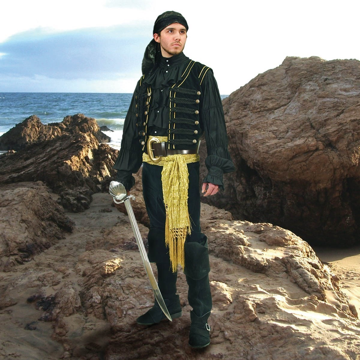 Pirate or Gypsy Gold Tasseled Sash