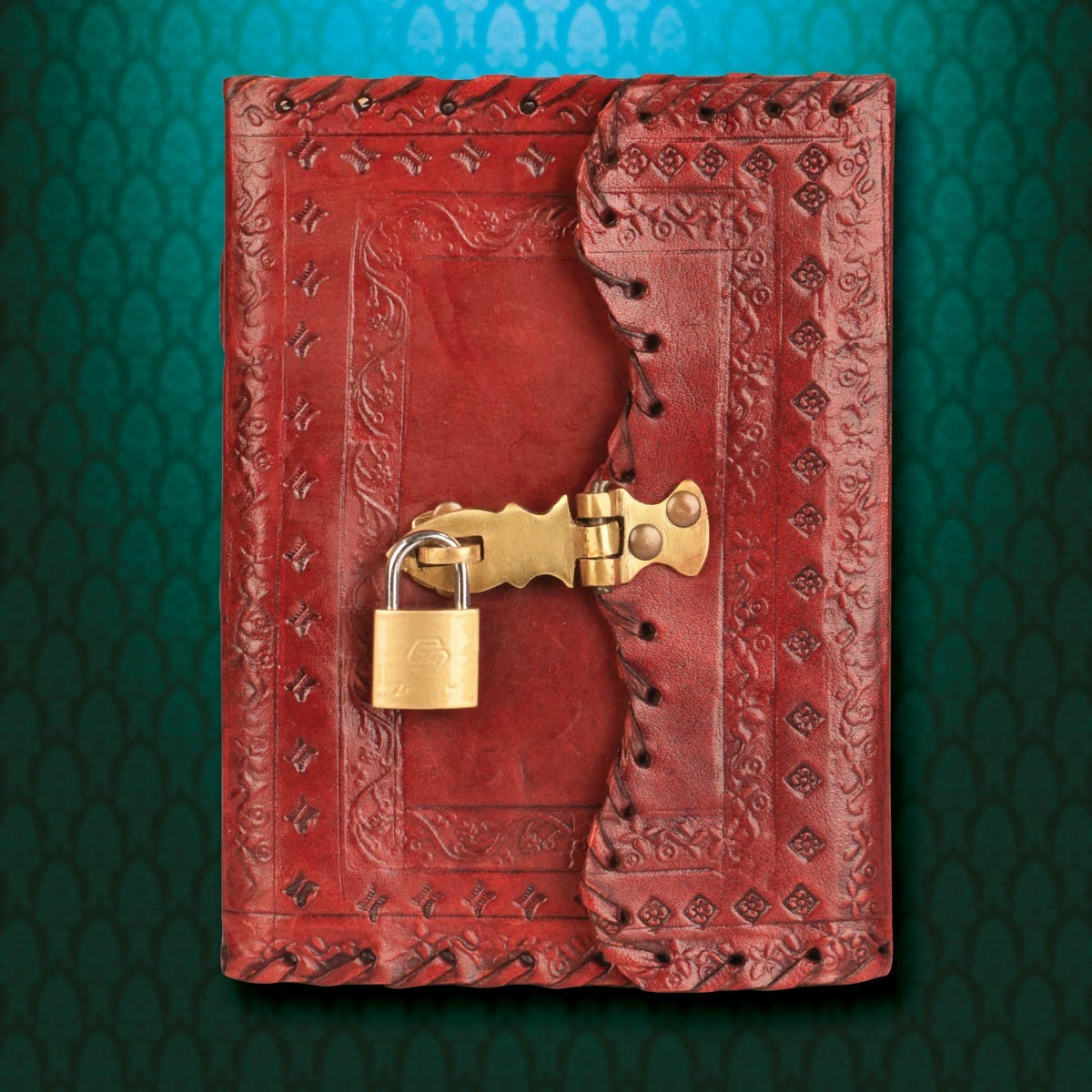 Locking Leather Journal with Key