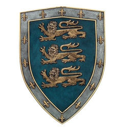 Resin Crafted Shield of the Three Lions